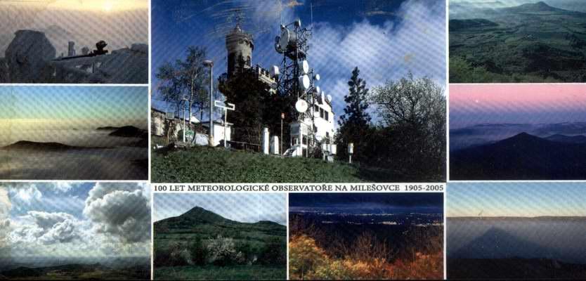 Pohledníce, 100 let observatoře Milešovka, 1905-2005