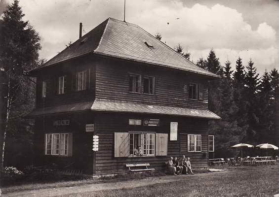 Pohlednice, Chata Kozlov u České Třebové, 1966