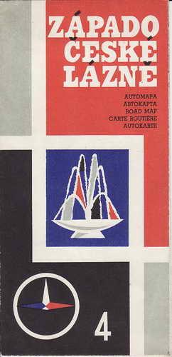 Mapa, automapa Západočeské lázně, 1:200 000, 1973
