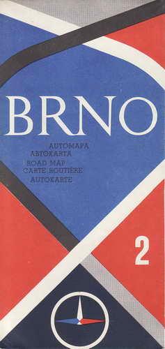 Mapa, automapa Brno, 1:200 000, 1975