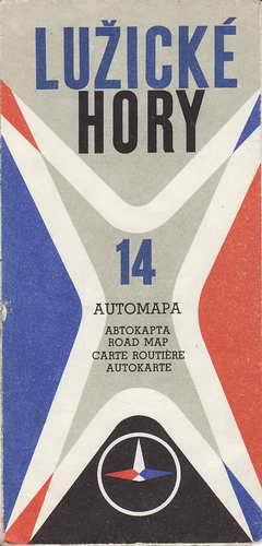 Mapy, automapa, Lužické hory, 1:200 000, 1973