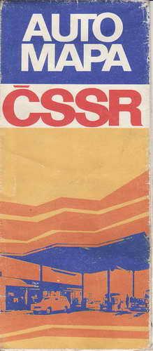 Mapy, automapa, ČSSR, 1:1 000 000, 1978