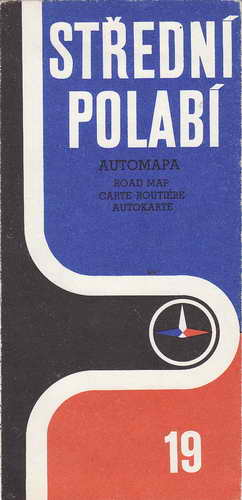 Mapy, automapa, Střední polabí, 1:200 000, 1975