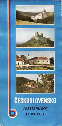 Mapy, automapa, Československo, 1:800 000, 1984