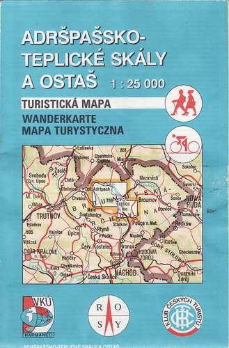 Mapy, Adršpašsko-Teplické skály a Ostaš, 1:25 000, 1999