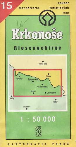 Mapy, Krkonoše, 1:50 000, 1993
