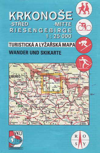 Mapy, Krkonoše střed, 1:25 000, 1999