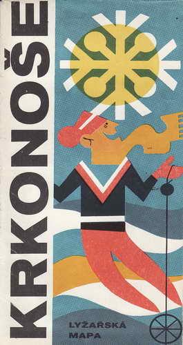 Mapy, Krkonoše, lyžařská mapy, 1:50 000, 1974
