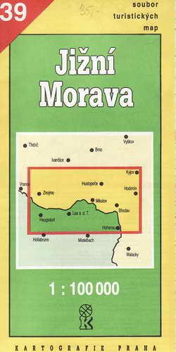 Mapy, Jižní Morava. 1:100 000, 1992