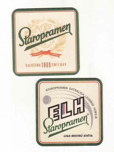 *Staropramen ochranná známka, založeno 1869, Smíchov
