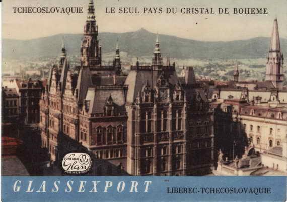 Pohlednice, Glassexport, Liberec Tchecoslovaque
