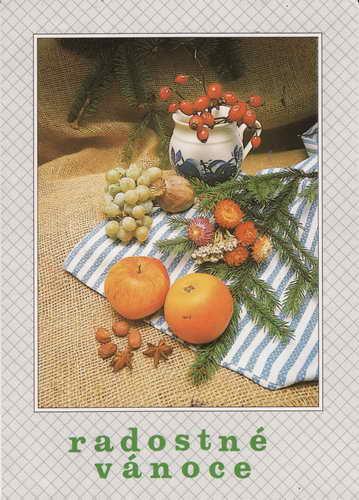 Pohlednice, Radostné vánoce, 1992