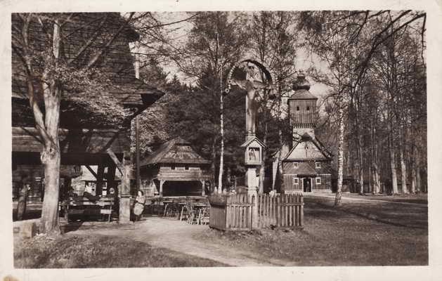 Pohlednice, Rožnov pod Radhoštěm, 1948