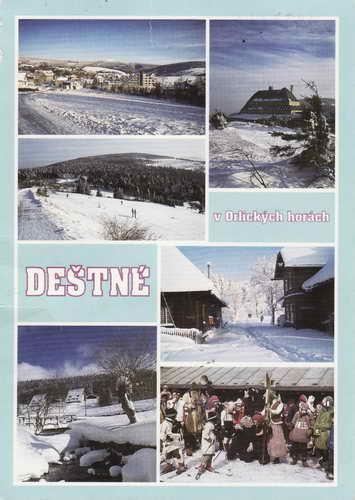 Pohlednice, Deštné v Orlických horách, 1998