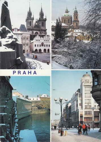 Pohlednice, Praha, Prag, Prague