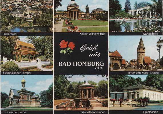 Pohlednice, Bad Homburg, 1988