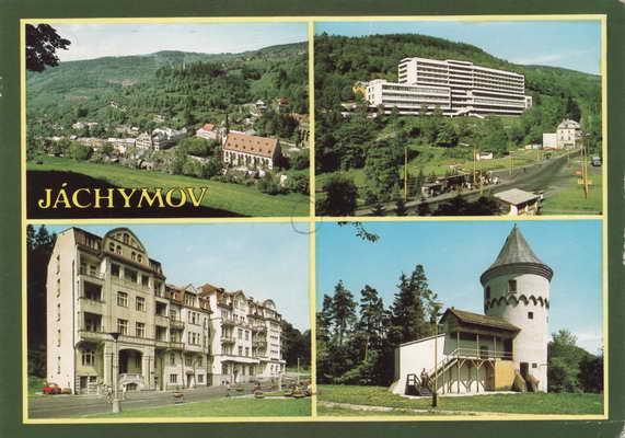 Pohlednice, Jáchymov, 1990