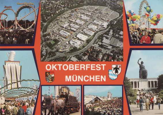 Pohlednice, Oktoberfest Munchen, 1988