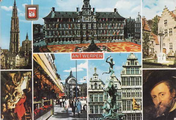 Pohlednice, Antwerpen, 1988