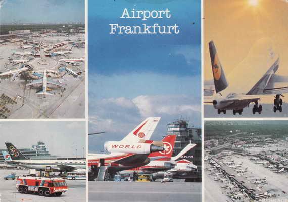 Pohlednice, Airport Frankfurt, 1988