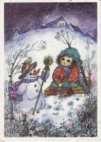 Pohlednice, Zima, 1993