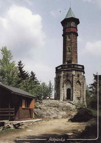 Pohlednice, Rozhledna Štěpánka, 958 m n.m.