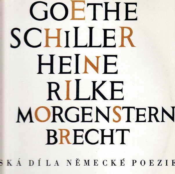 LP mistrovská díla německé poezie, Goethe, Schiller, Heine, Rilke, Brecht