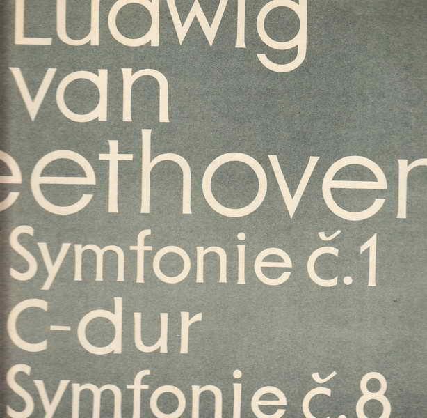 LP Ludwig van Beethoven - op. 21, 93, symfonie č.1 d-dur, č.8 f-dur