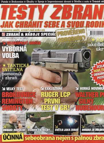 2009 Časopis Testy zbraní, jak chránit sebe a svou rodinu