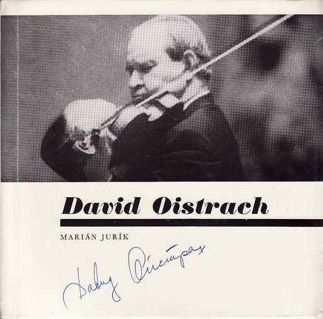 David Oistrach, vložená SP deska / Marián Jurík, 1977