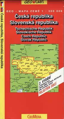 Česká republika, Slovenská republika 1:300000