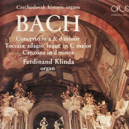 LP Johann Sebastian Bach, varhany, F. Kindl, 1974