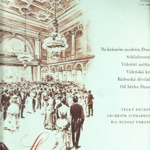 LP Slavné vídeňské valčíky / Velký dechový orchestr, 1973