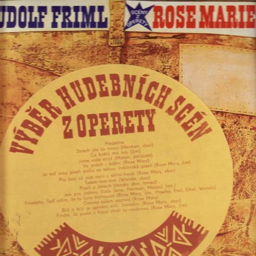 LP Rose Marie, Rudolf Friml, výběr hudebních scén z operety, 1976