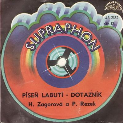 SP Hana Zagorová, Petr Rezek, 1978, Dotazník