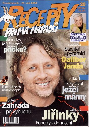 Časopis Recepty Prima nápadů 2004/09/29 Dalibor Janda