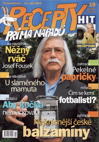 Časopis Recepty Prima nápadů 2006/09/12 Josef Fousek