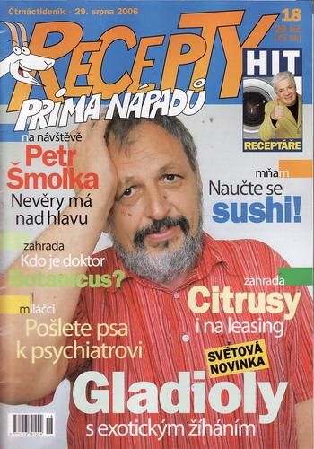 Časopis Recepty Prima nápadů 2006/08/29 Petr Šmolka