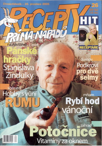 Časopis Recepty Prima nápadů 2005/12/20 Stanislav Zindulka