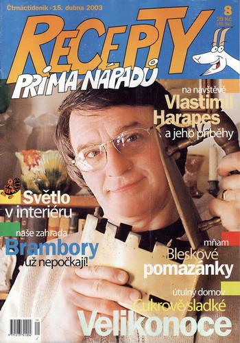 Časopis Recepty Prima nápadů 2003/04/15 Vlastimil Harapes