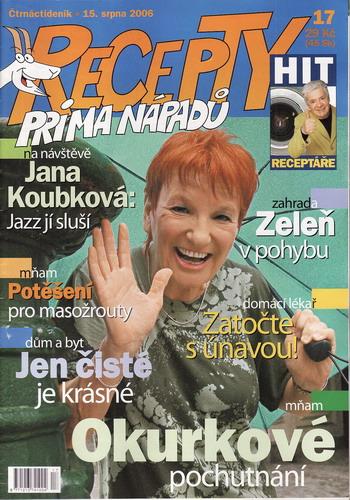 Časopis Recepty Prima nápadů 2006/08/15 Jana Koubková