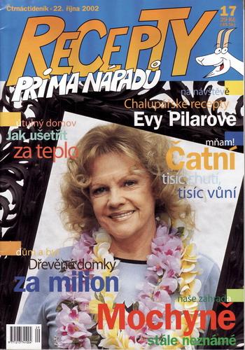 Časopis Recepty Prima nápadů 2002/10/22 Eva Pilarová