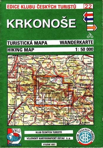 Krkonoše, turistická mapa 1:50 000, 1997