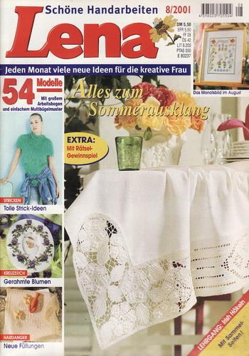 08/2001 Lena, časopis o vyšívání, ruční práce, německy