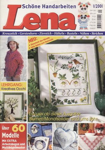 01/2001 Lena, časopis o vyšívání, ruční práce, německy