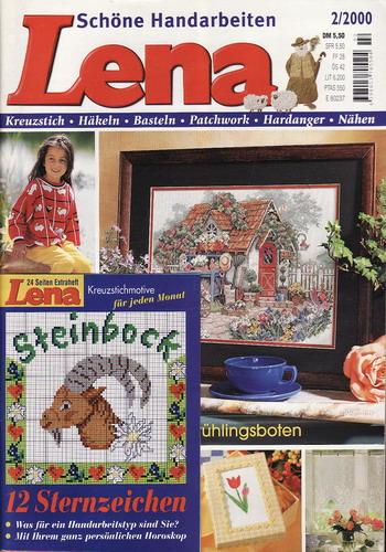 02/2000 Lena, časopis o vyšívání, ruční práce, německy