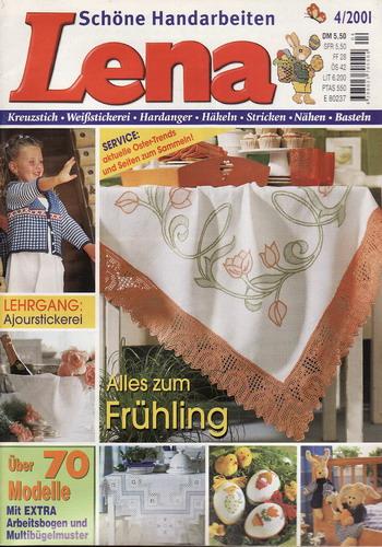 04/2001 Lena, časopis o vyšívání, ruční práce, německy