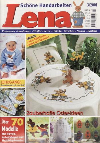 03/2001 Lena, časopis o vyšívání, ruční práce, německy