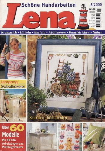 06/2000 Lena, časopis o vyšívání, ruční práce, německy
