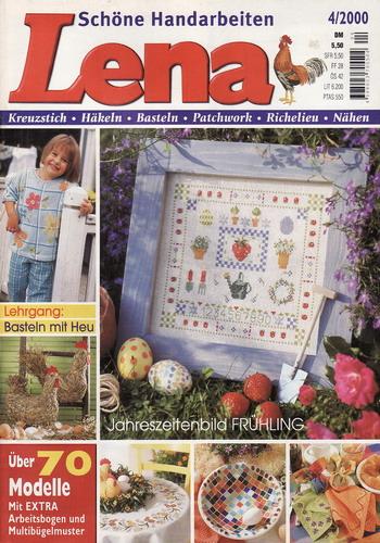 04/2000 Lena, časopis o vyšívání, ruční práce, německy